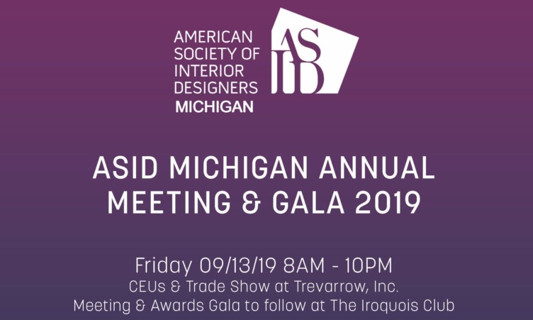 ASID Michigan 2019 Annual Meeting & Gala